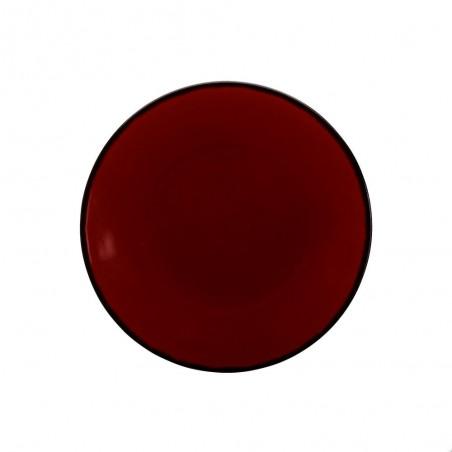6 Dessert Plates REACT Red