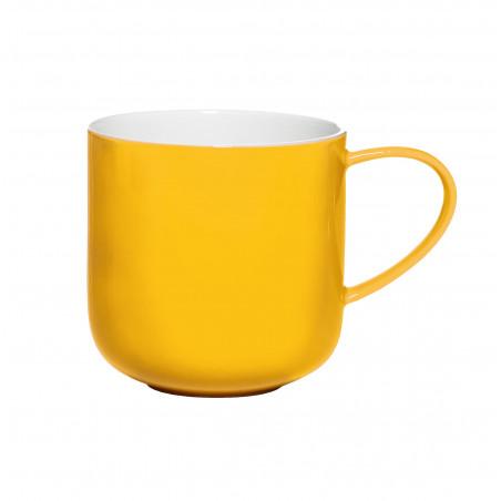 Mug with handle, yellow