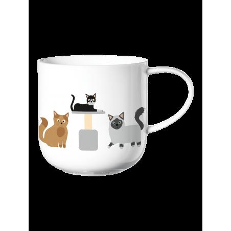 Mug with handle, Cats