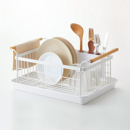 Dish Drying Rack, Steel + Wood