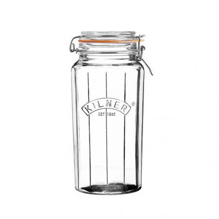 Facetted Clip Top Jar 1.8...