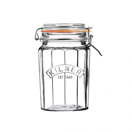 Facetted Clip Top Jar 0.95...