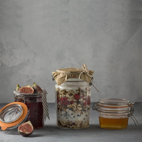 Facetted Clip Top Jar 0.45...